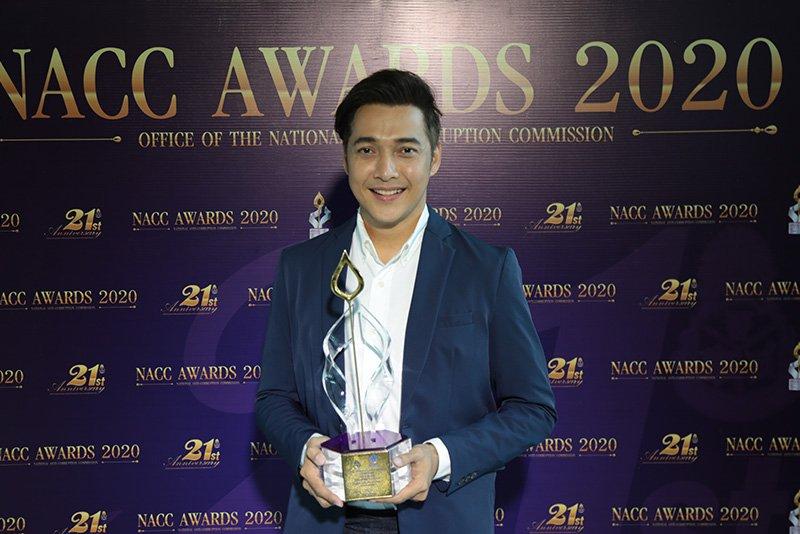 """สถานีโทรทัศน์ไทยทีวีสีช่อง 3 ได้รับโล่เกียรติยศ รางวัลช่อสะอาด """"NACC Awards 2020"""""""